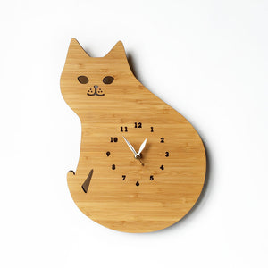 Cat Wall Clock with numbers