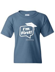 I'm First! T-shirt (Indigo Blue)