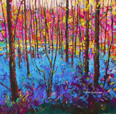 'Bluebell Wood' Print Hand Signed By Julie