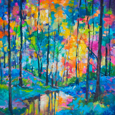 'Rainbow Forest' Print Hand Signed By Julie