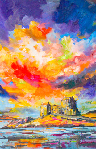 'Sky Over Eilean Donan' Print Hand Signed By Julie