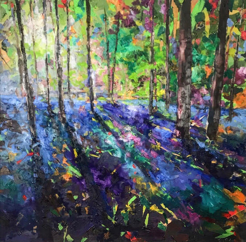 Julie's 'Six weeks of colour' course - Bluebell Woods