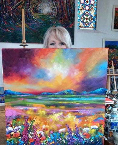 Julie's 'Six weeks of colour' course - Hills With a Dramatic Sky