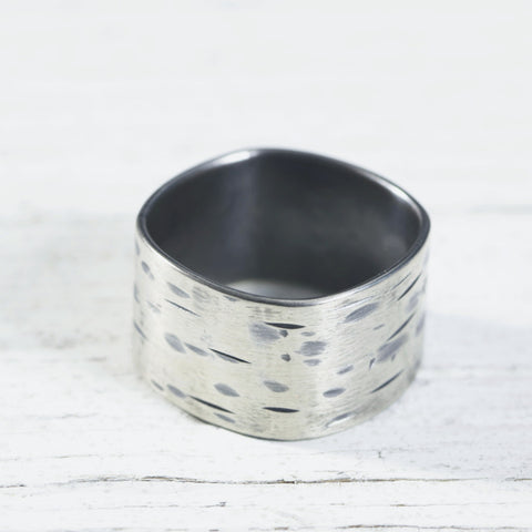 Birch Bark Sterling Ring