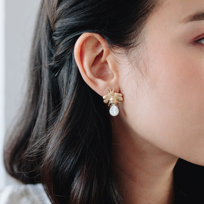 Gold Dionys Bee Earrings