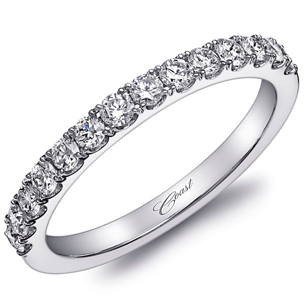Coast Shared Prong Thin Diamond Wedding Band