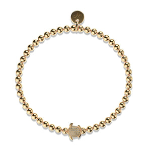 Tortuga | 18k Gold | Crystal Sea Turtle Bracelet