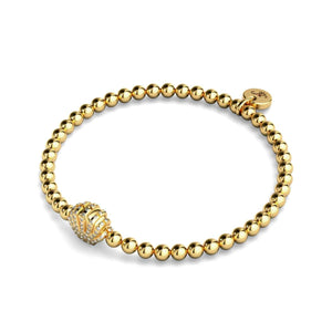Playa | 18k Gold | Crystal Sea Shell Charm Bracelet