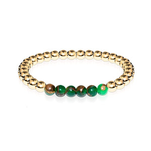 Dreamy | 18k Gold | New Green Agate | Expression Bracelet