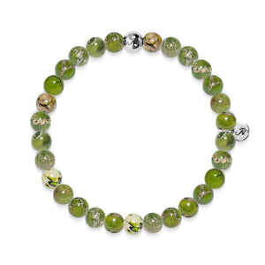 Dedication | Silver Essence Olivine Regalite Bracelet