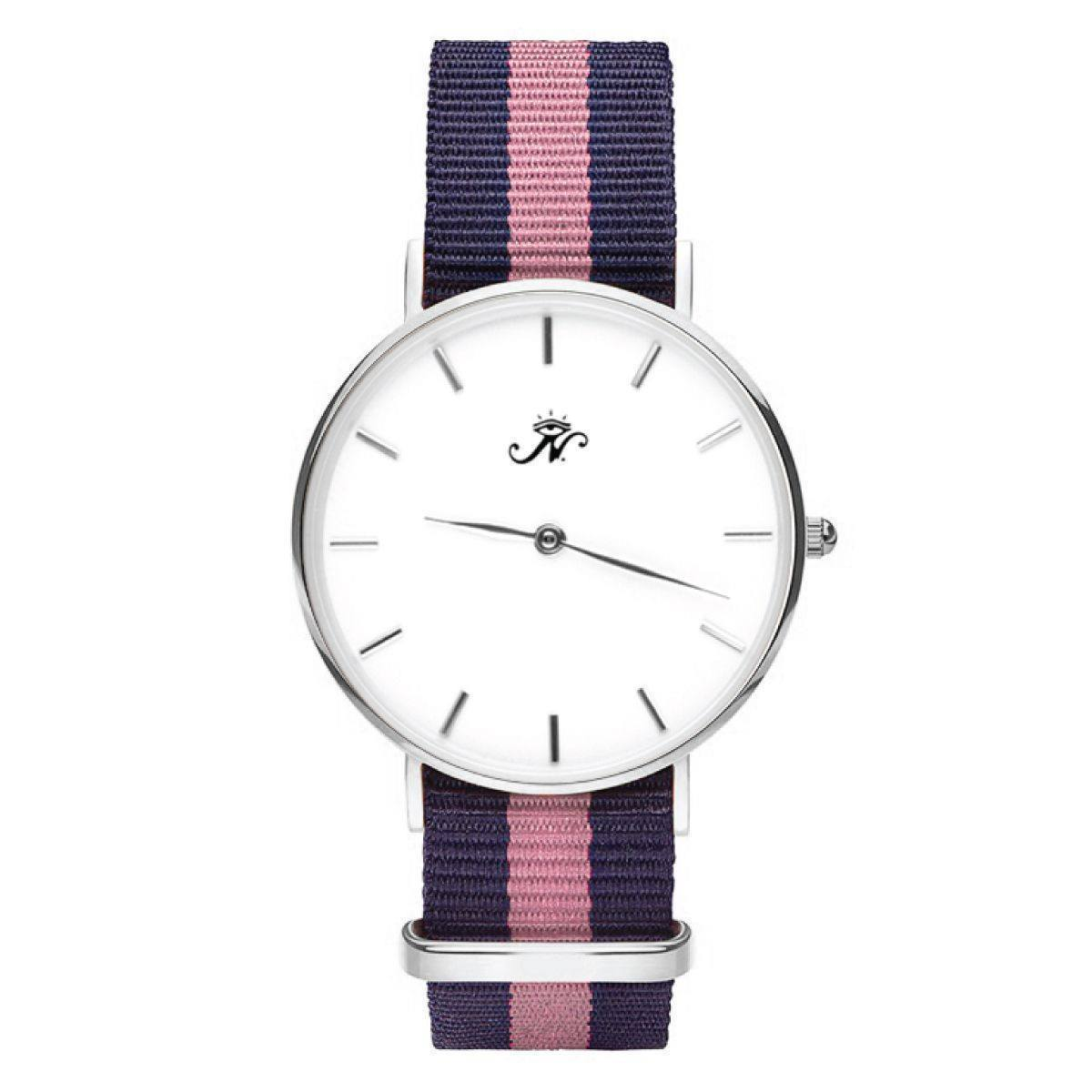 Rosedale - Silver Timepiece with NATO Strap