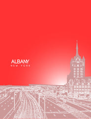 Albany New York Skyline Poster