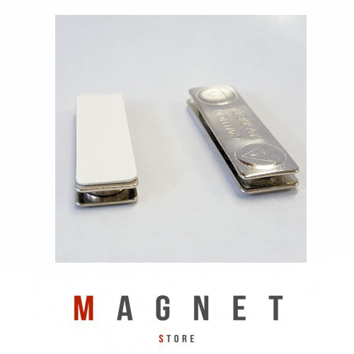 L45x13x45mm (2 Magnets) Rectangle Steel Badge