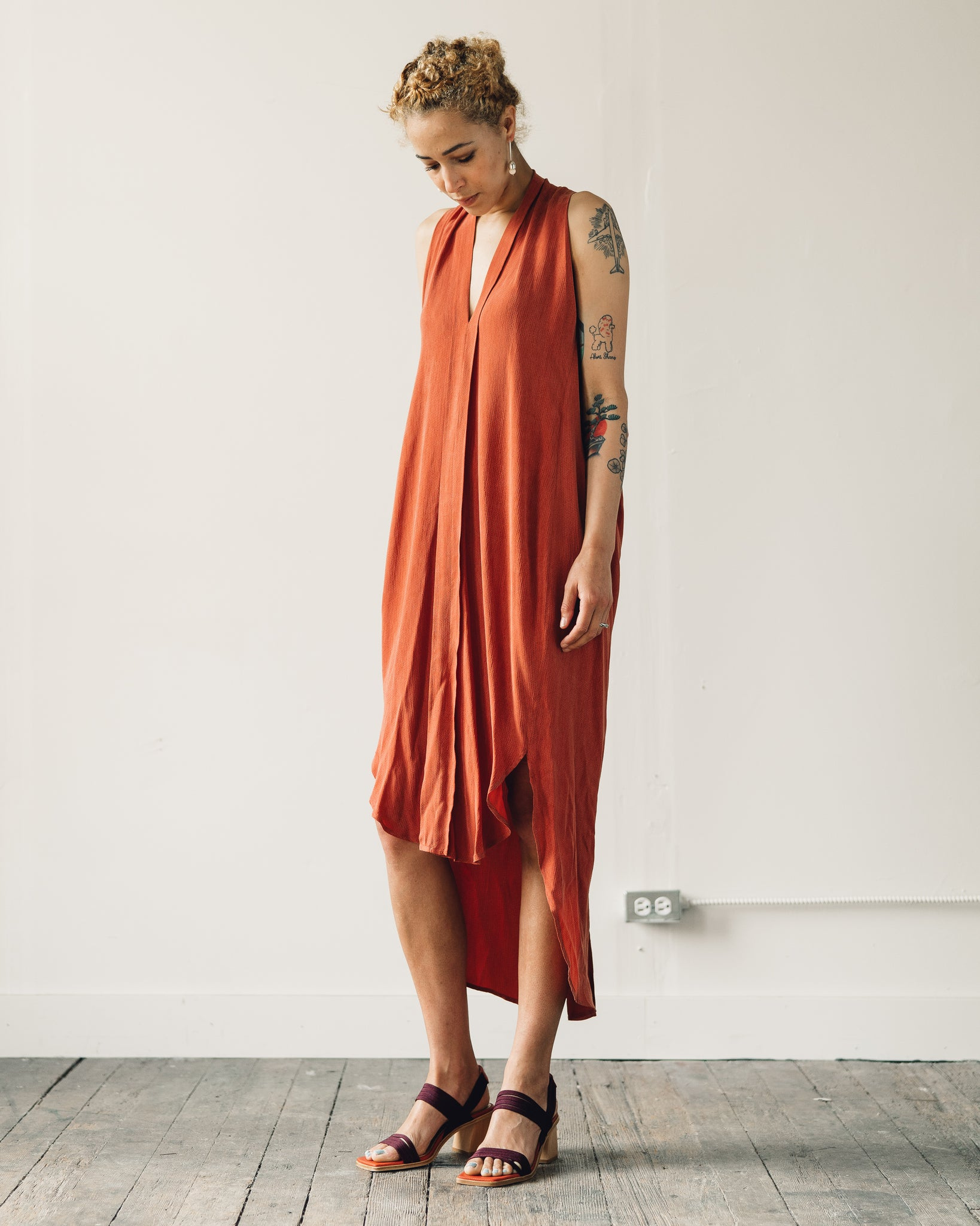 7115 Origami Dress, Coral