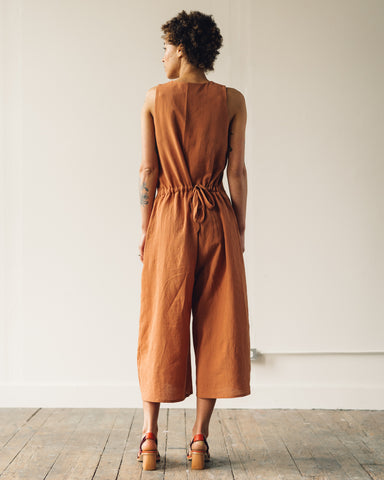 7115 Wide Legged Jumpsuit, Tangerine