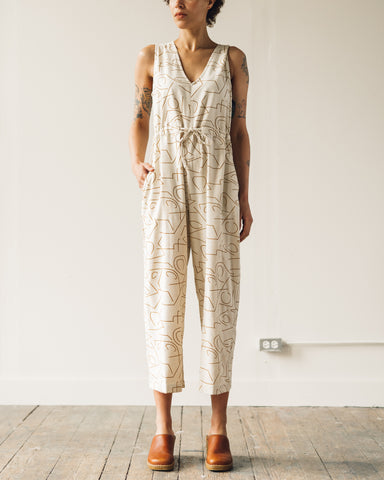 Ali Golden Slit-Back Jumper, Lines