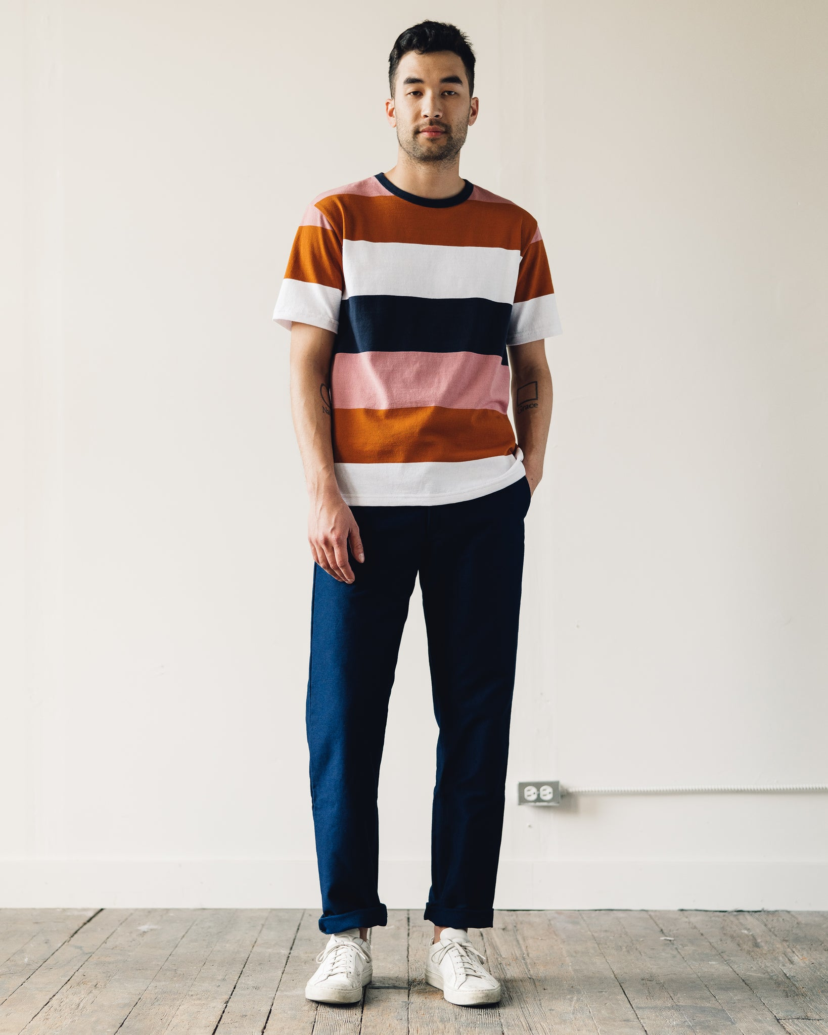 Arpenteur Match Tee, Stripes