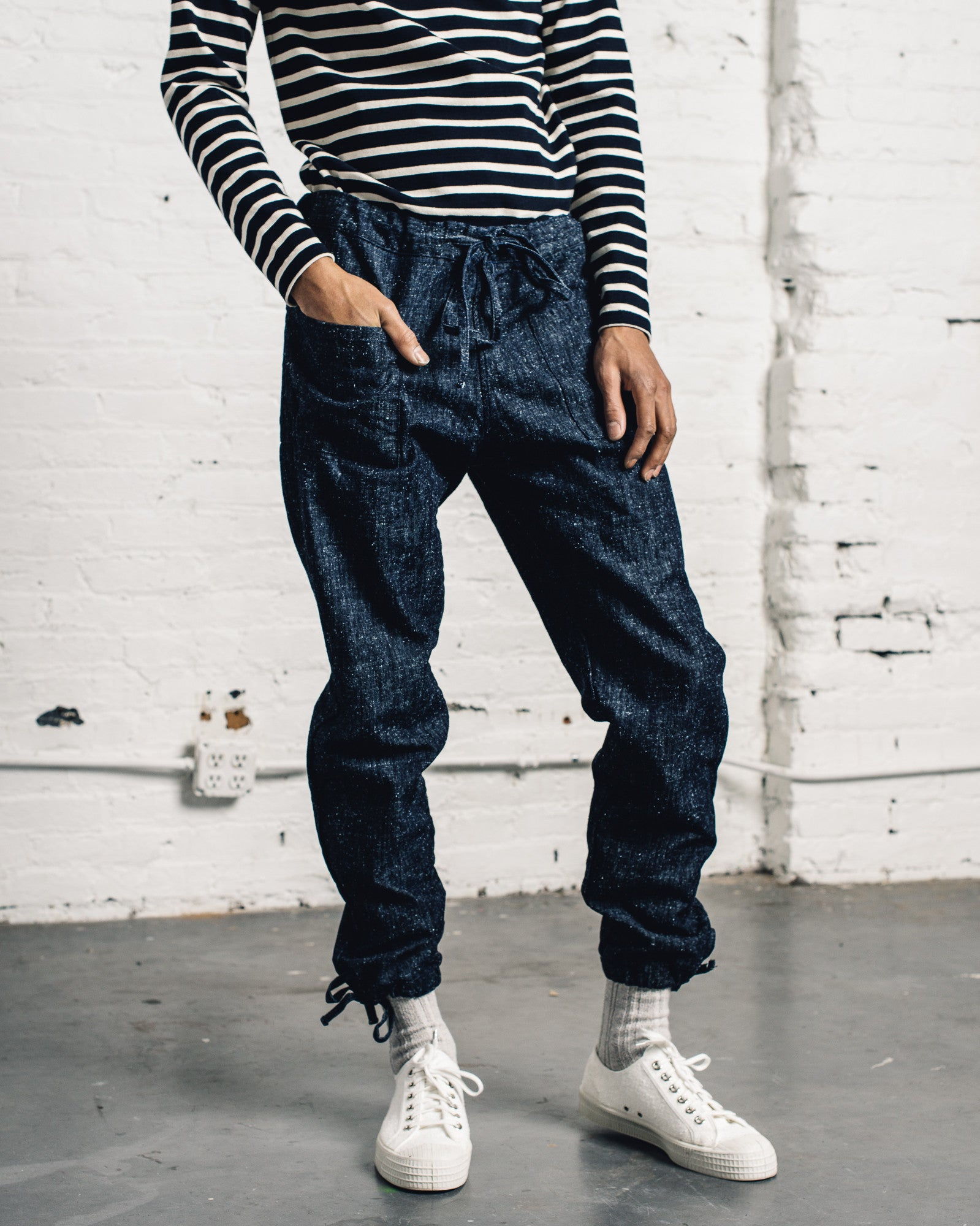 Zed Catch All Trousers, Silk Nep Denim