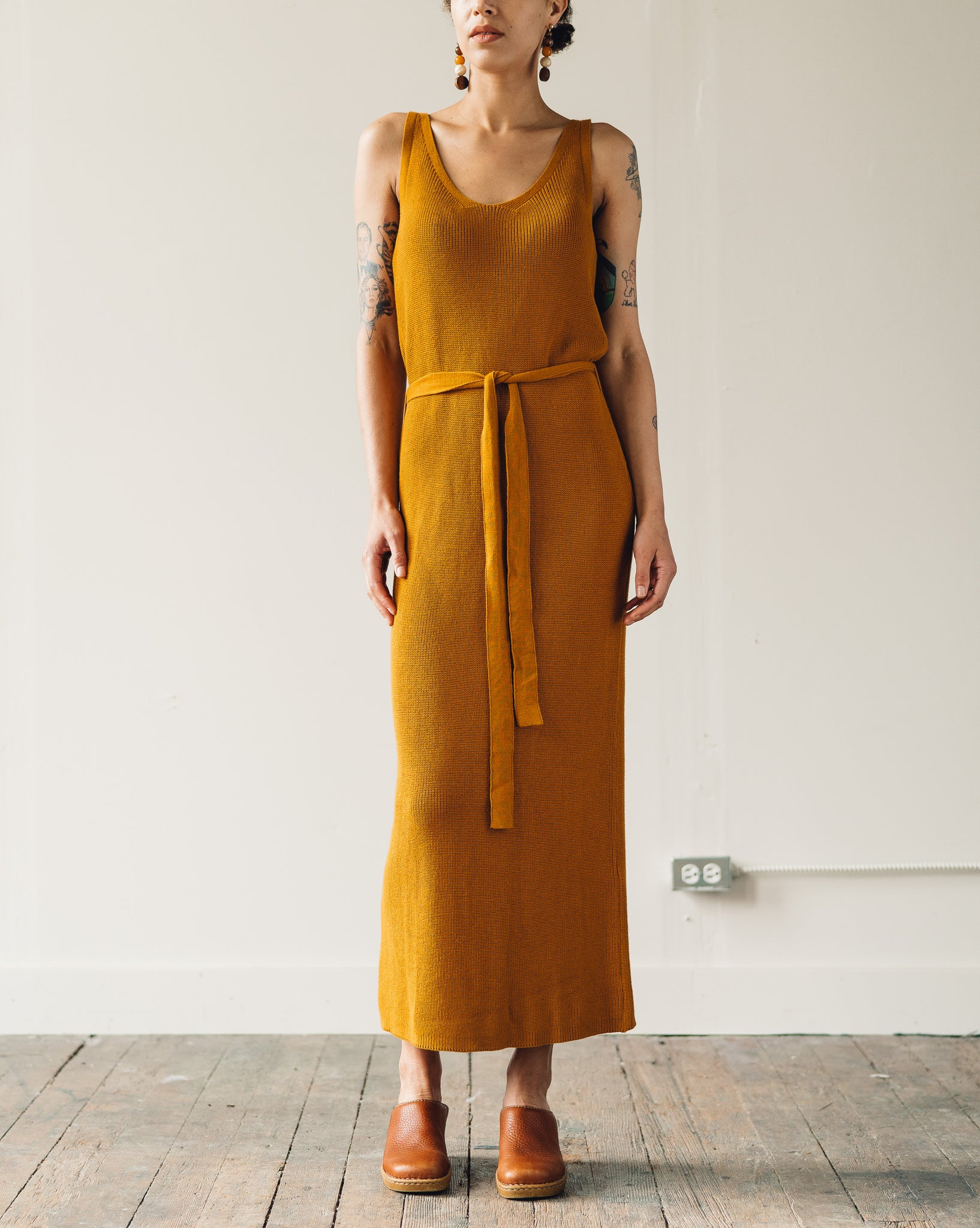 Kowtow Knit Tank Dress, Amber