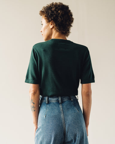 Kowtow Knit Tee, Bottle Green