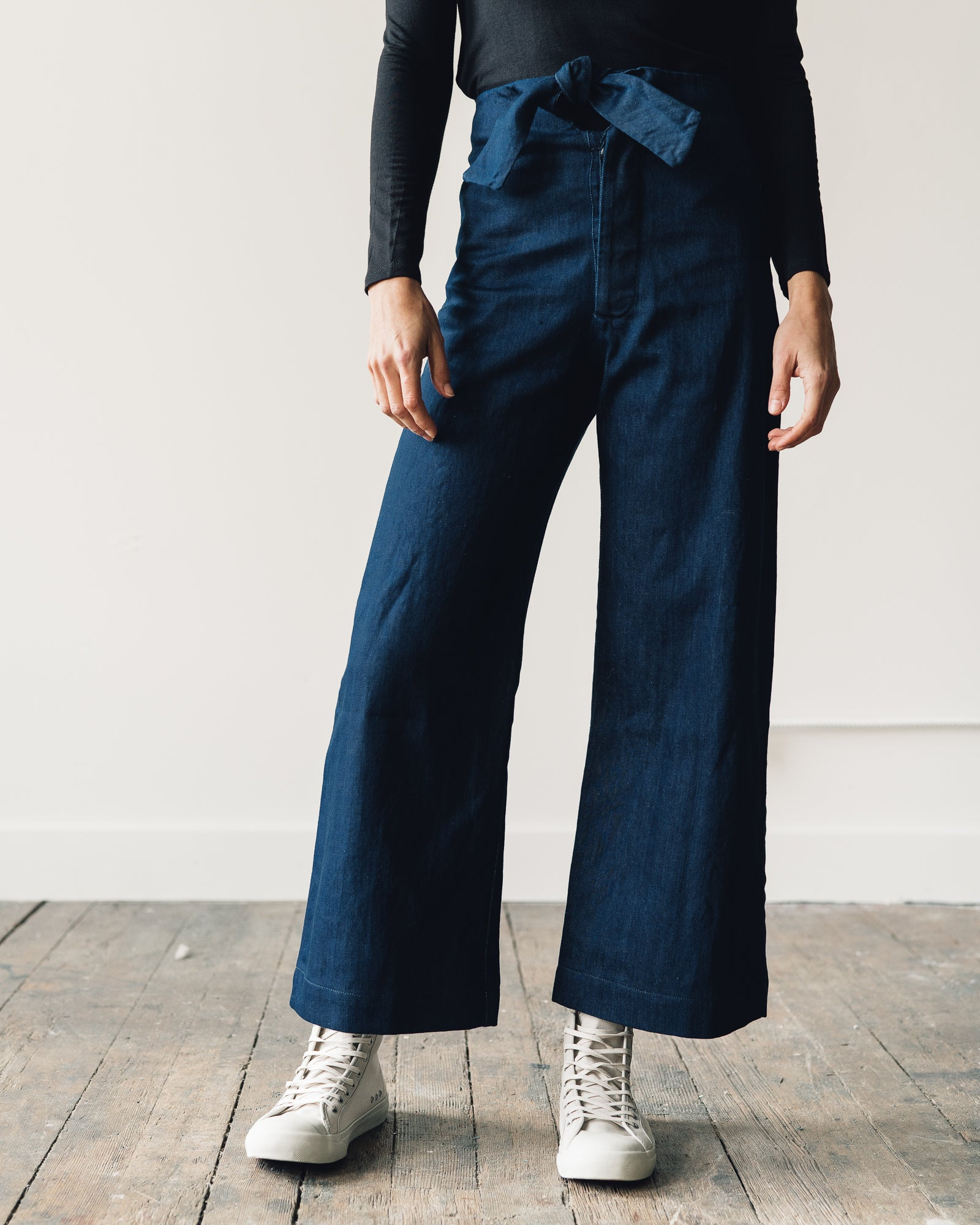 Micaela Greg Knotted Sailor Pant, Denim