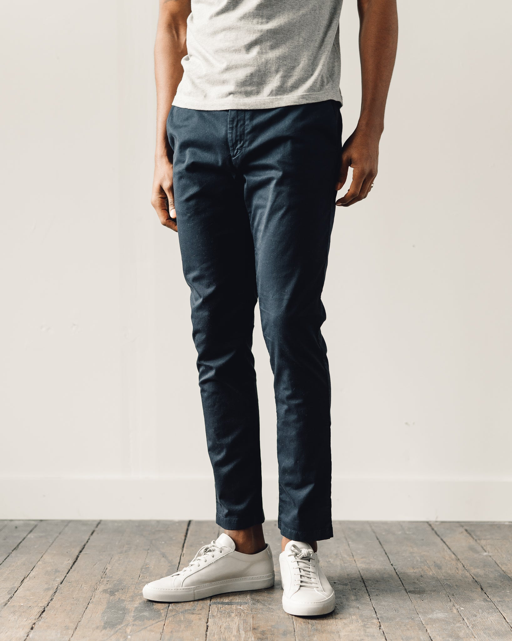 Norse Projects Aros Slim Light Stretch, Dark Navy