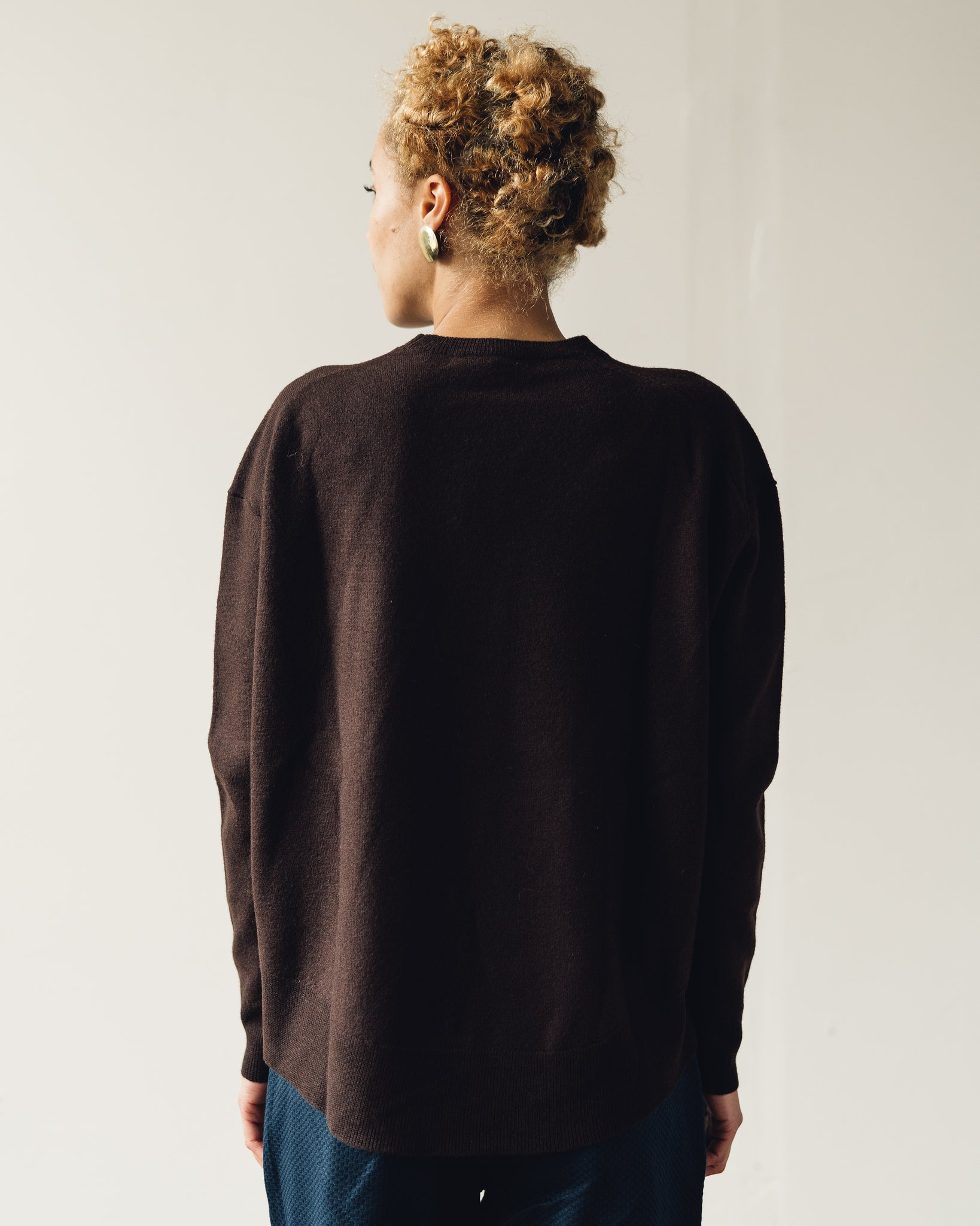 Norse Projects Olena Boiled Wool Sweater, Ombre