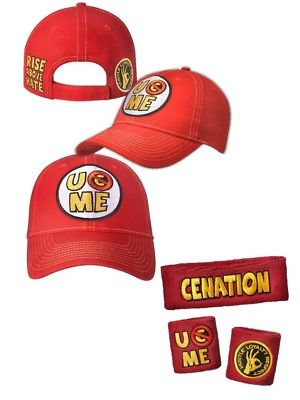 John Cena Baseball Hat Headband Wristbands Set