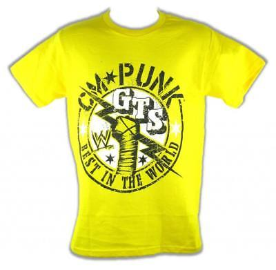 CM Punk GTS Best In The World Yellow WWE Kids T-shirt Boys