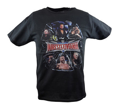 Wrestlemania Shattered Triple H Roman Reigns WWE Mens Black T-shirt