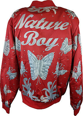 Nature Boy Ric Flair Blue Chalkline WWE Walkout Satin Jacket