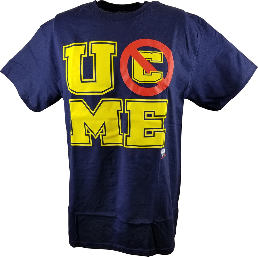 John Cena U Can't See Me WWE Mens Navy Blue T-shirt