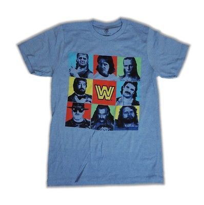 Curt Hennig Rick Rude Roddy Piper Legends WWE Mens Blue T-shirt