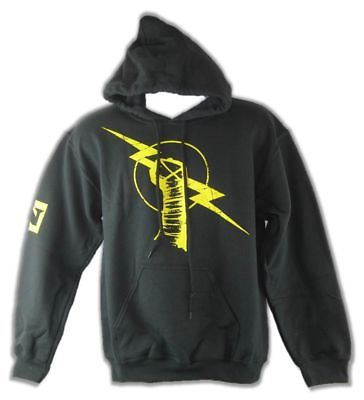 CM Punk Uprising Black Pullover Hoody Sweatshirt New