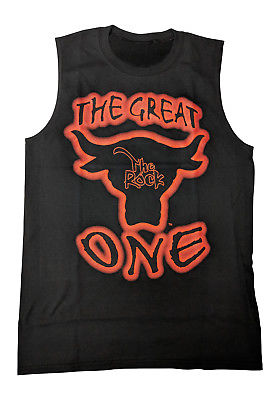 The Rock Great One Mens Sleeveless Black Muscle T-shirt