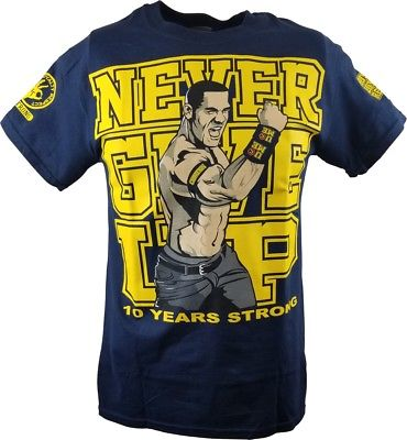 John Cena Ten Years Strong U Can't See Me Blue T-shirt