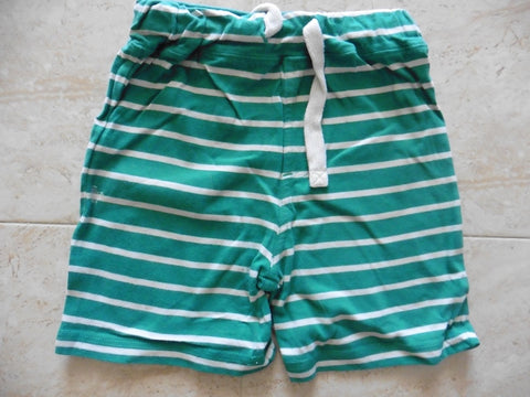 NEXT green striped cotton shorts 18-12m