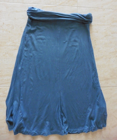 JO JO MAMAN BEBE blue stretch maternity skirt