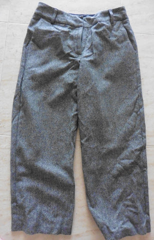 BODEN ladies cropped herringbone grey winter trousers 10R