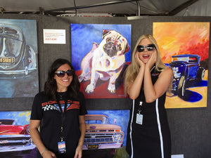 Our Customers LOVE our Pug art at Rennsport reunion V!