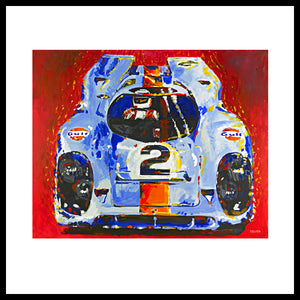 'Porsche Daytona Champion 917' Vintage Racing Fine Art Prints