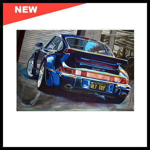 "NEW! 'The Ultimate Toy: 964 Porsche 3.6 Turbo', 48"" x 72"", Acrylic on Canvas, Call for Price"