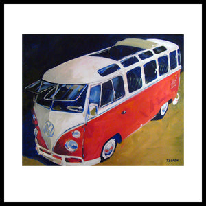 '23 Window Sunroof VW Bus' Volkswagen Fine Art Prints