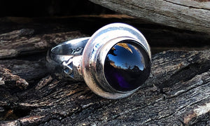Amethyst Bullet Ring - Valou ::: Home of the Original 3cap ring design :::