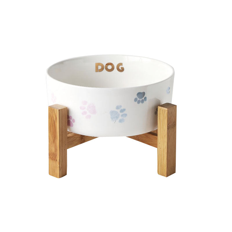 INS light luxury pet supplies dog bowl large dog dog bowl food bowl large capacity bowl with frame protection cervical vertebra