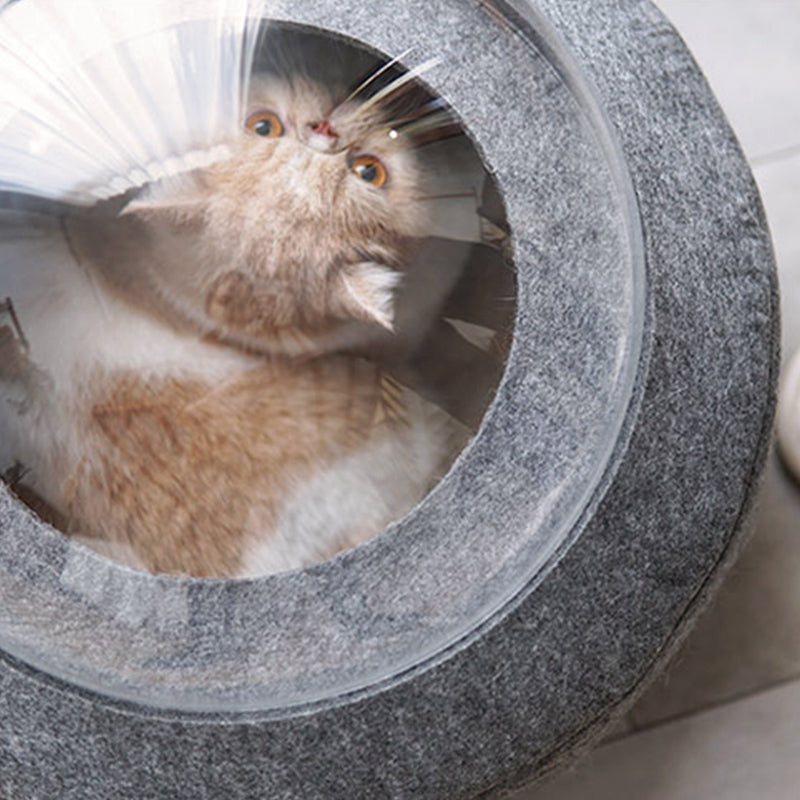 Nordic Felt Cat Spacecraft Bed