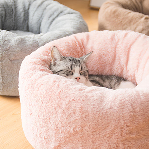 Doughnut Short Fur Pet Bed
