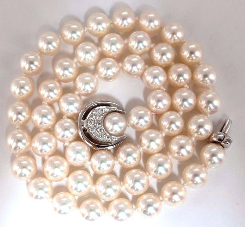 GIA Certified 53 Natural Akoya Pearls Necklace Saltwater Pintada Fucata 18kt