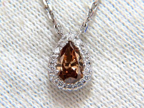 .71ct Natural Fancy Brown Diamonds Necklace 14kt