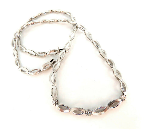.30ct Diamonds Infinity Flat Linked Necklace 14 Karat